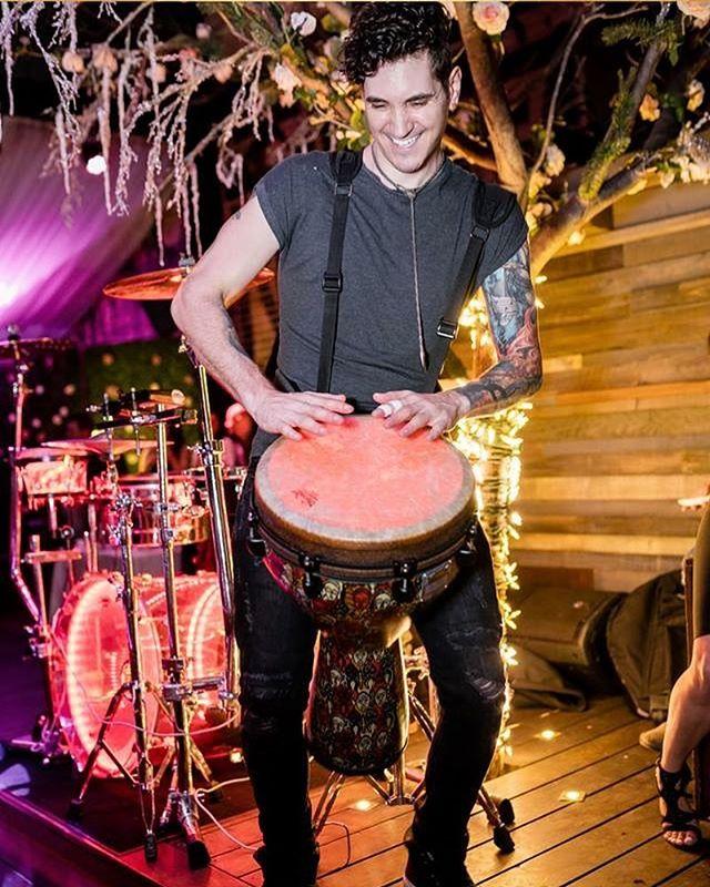 Rocking some percussion at @nojealousyla #livepercussion #djdrummer #madinthehat #wereallmadhere