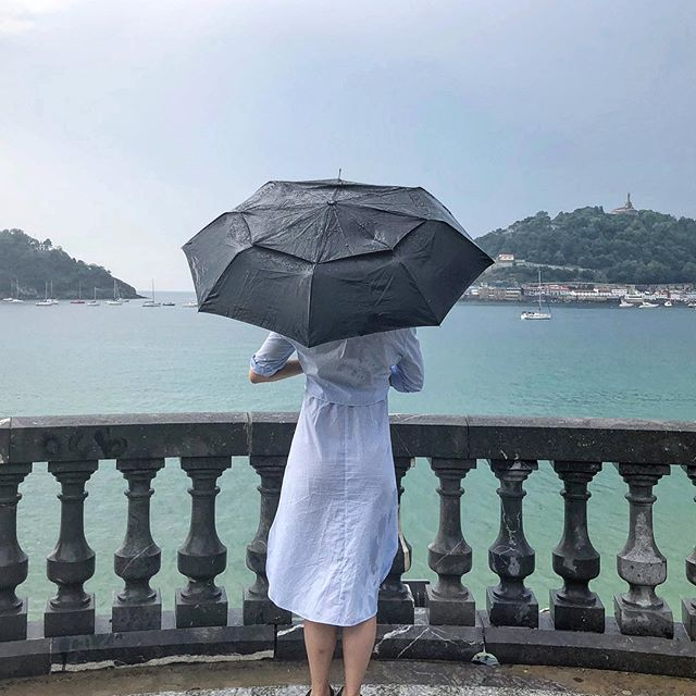 rain and shine. #sansebastian