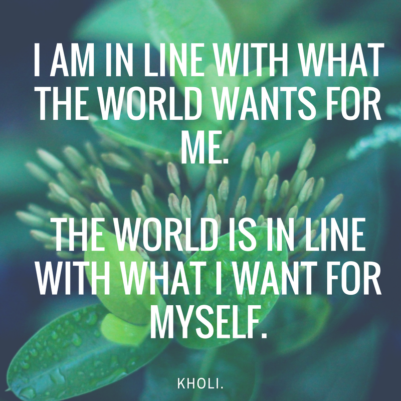 kholi affirmations self actualization