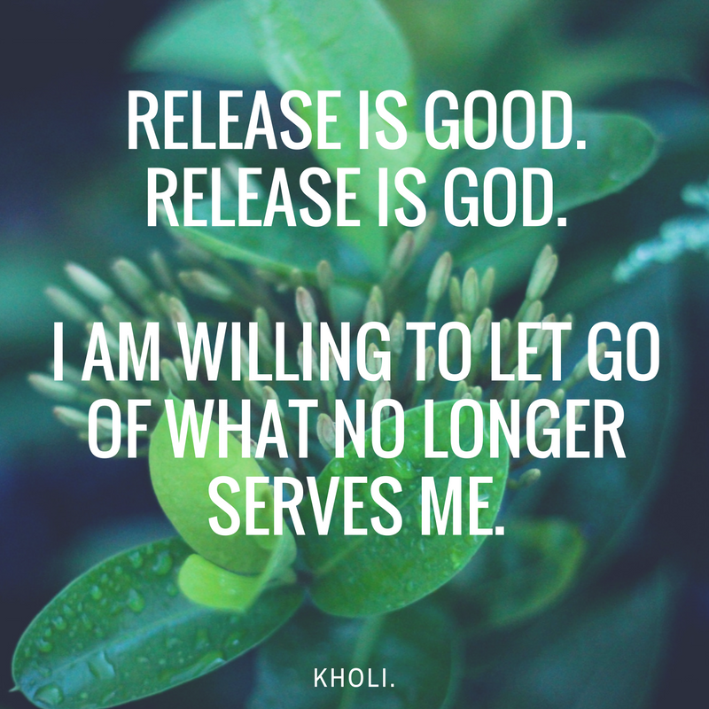 carrie kholi affirmations for release