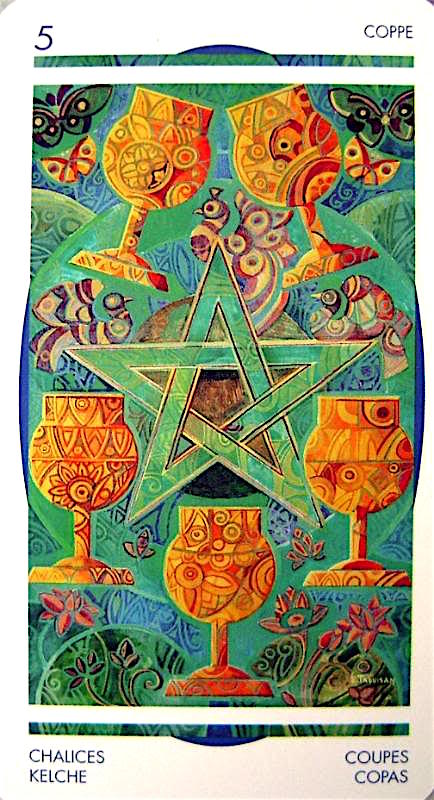 crystal tarot deck five of cups