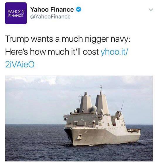 yahoo #niggernavy