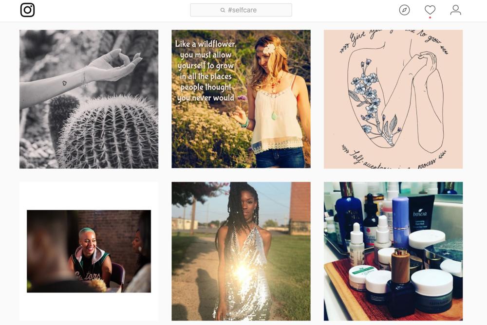 #selfcare instagram screensshot