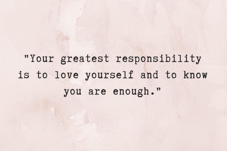self-love checklist