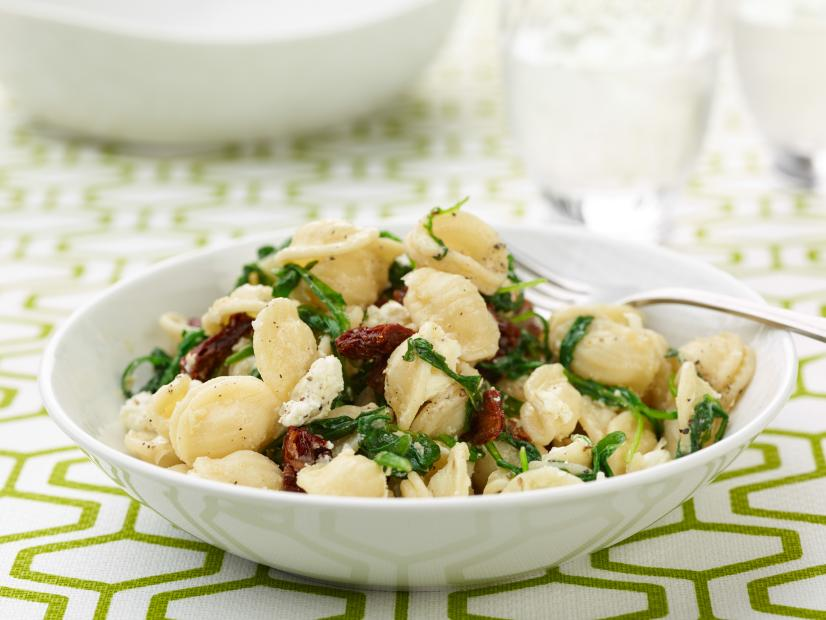 Orecchiette with Mixed Greens and Goat Cheese