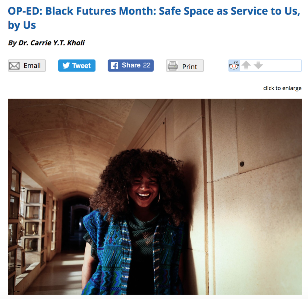 East Bay Express: Black Futures Month Op-ed