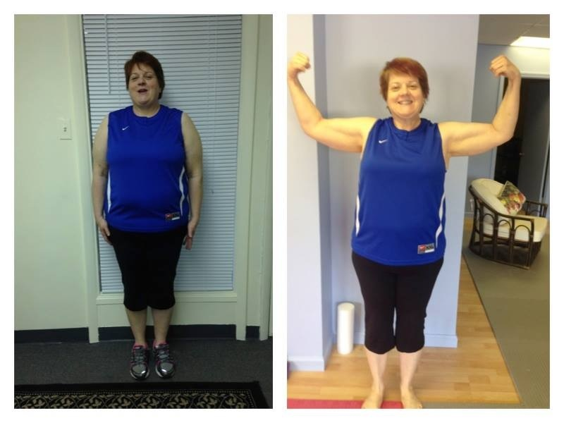 Sally, lost 20 pounds of body fat in her first month.