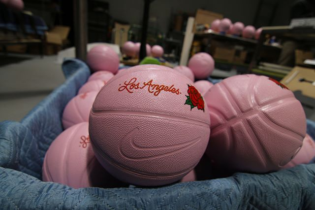 Pink basketballs? Why not? Here's another creative collaboration with @greendemon! #gallagher #glgr #DoGoodBeGoodKickAss #coolshit