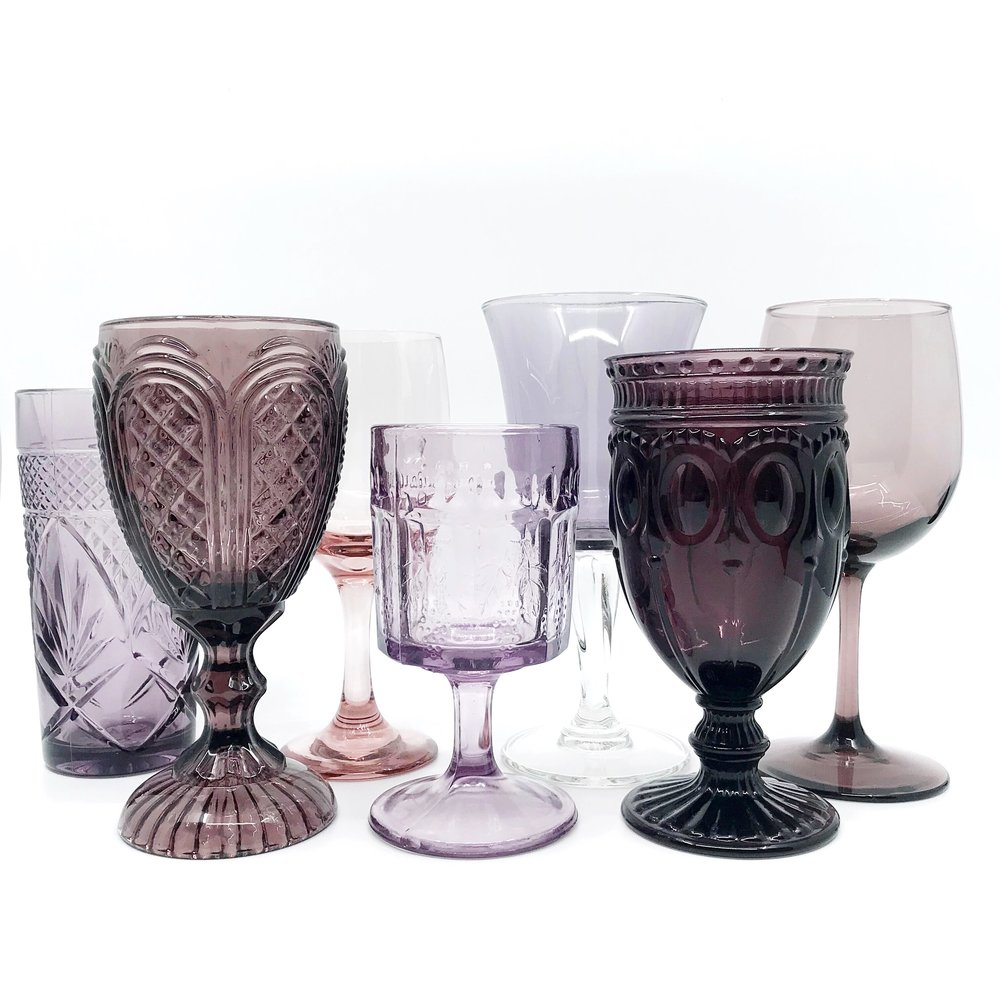 Amethyst Glassware Collection