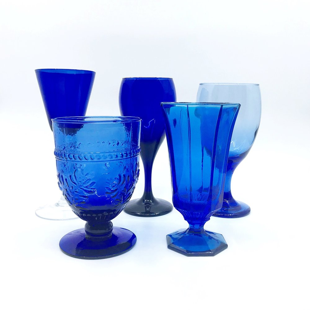 Cobalt Glassware Collection