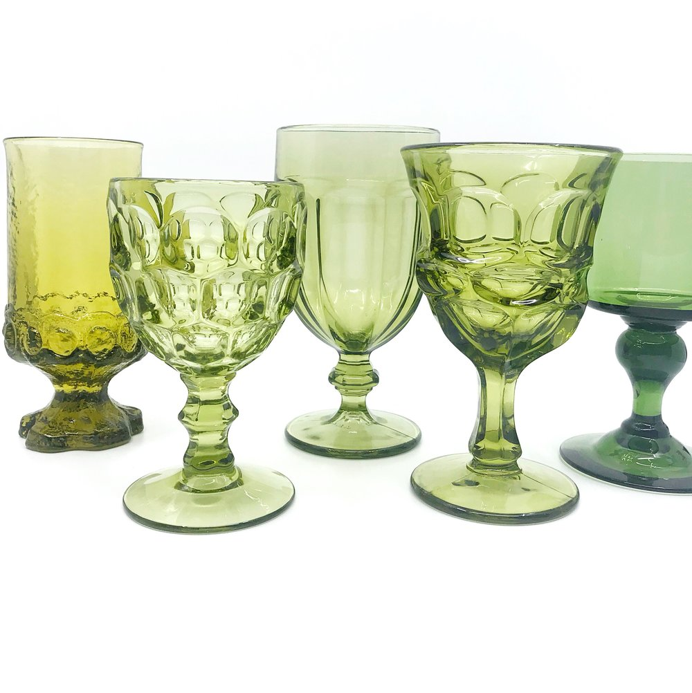 Olive Glassware Collection