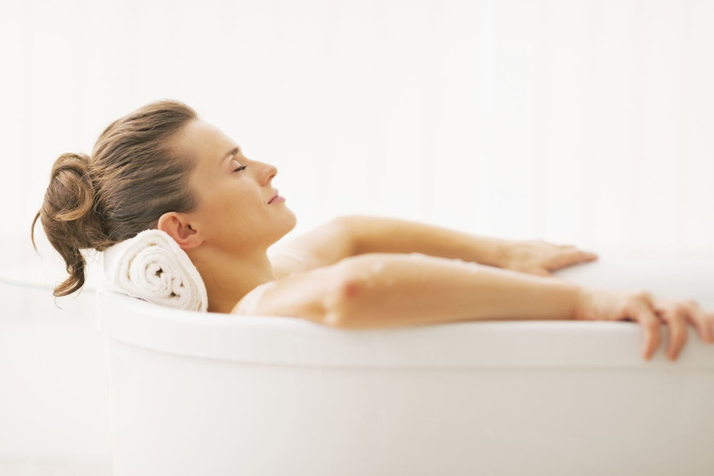 create a daily ritual - A bath could be part of your daily relaxing-ritual before going to bed