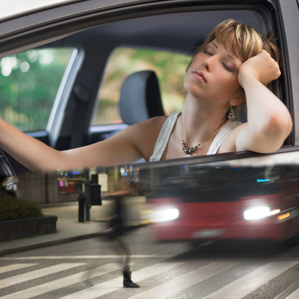 Its hard to drive when you are tired.  Your reaction time slows down making it easier to get in an accident.