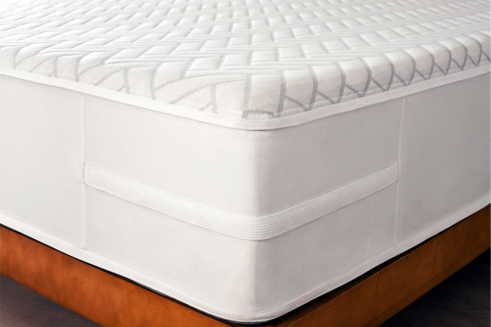 """The Wright 1.27 mattress is 11"""" tall and combines three layers of memory foam with a supportive base. The cover zippers off for cleaning and provides air to flow through to help keep the mattress cool."""