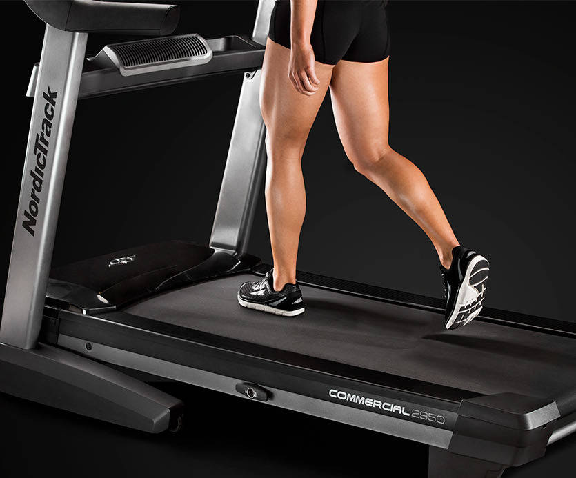 The Commercial 2950 for 2017 has a Runner's Flex suspension that if selected can increase protection for joints and knees up to 30%.