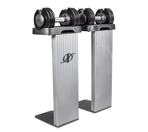- Speed Weight Adjustable Dumbbells adjust to five different weights included with the NordicTrack Commercial 2950