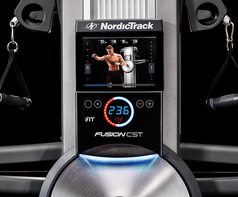 The WATTSMeter displays your work out load on the center console and the tablet displays the live classes. You can remove or move the tablet to different heights and places as you go through your work out session.
