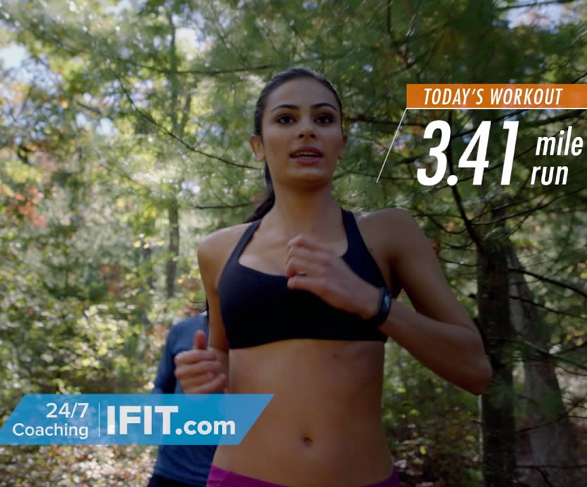 With iFit Coach, it is like having your own personal trainer to motivate & workout with