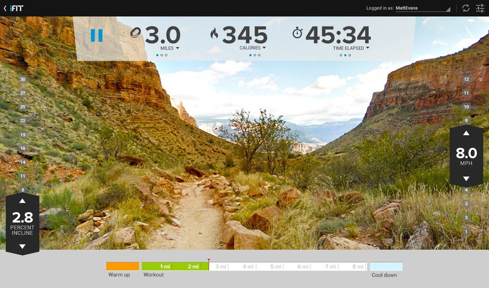 There is a wide array of Scenic workouts to choose from that look stunning on the HD touch display.