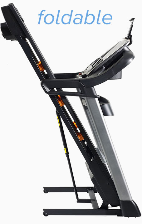 NordicTrack C990  Treadmill is a space saver as it's folds up
