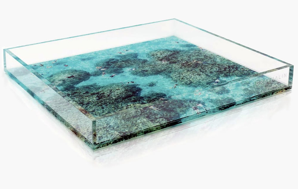 This one Tray is perfect for the bedside table. Or pool-side.