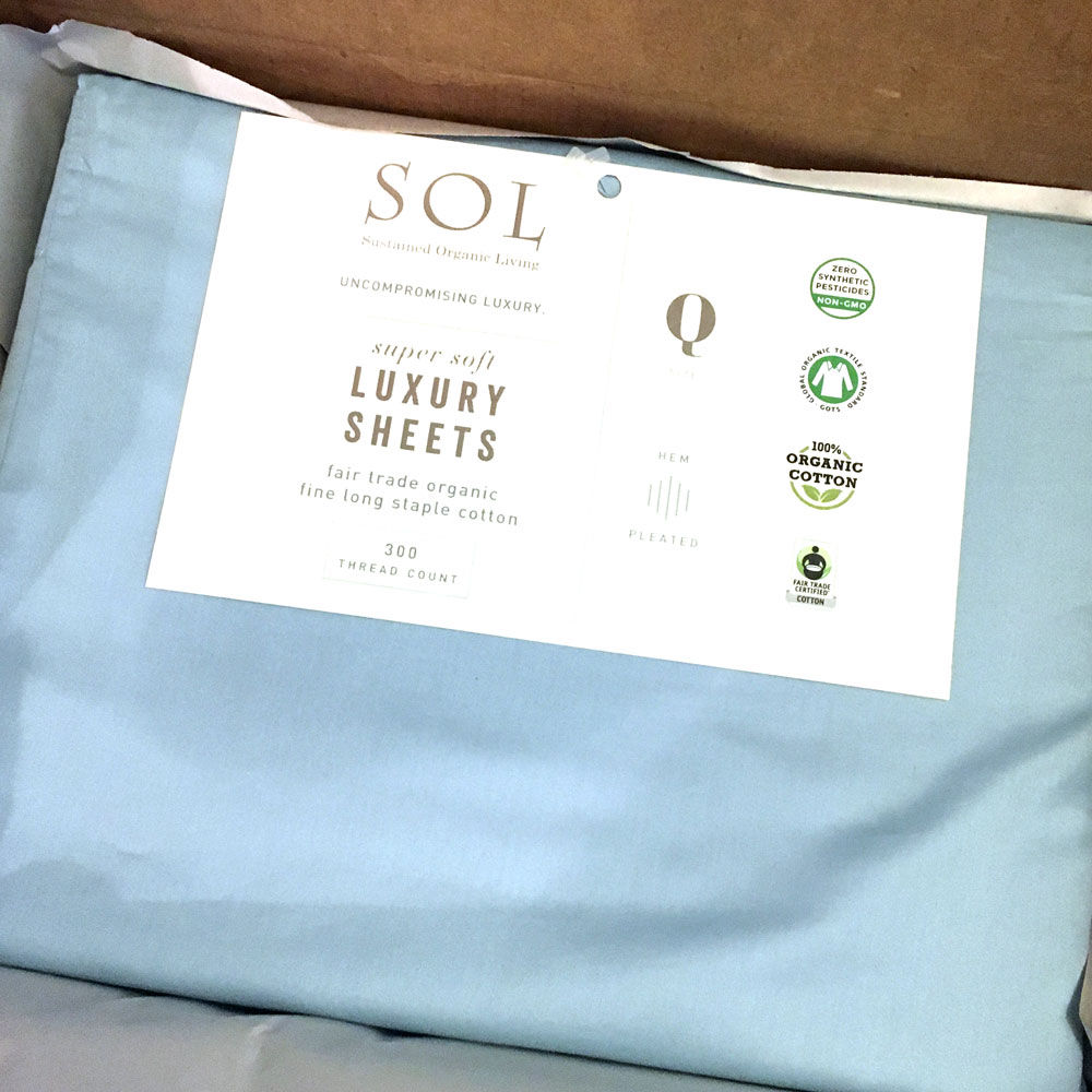UN-PACKING SOL ORGANIX SHEETS