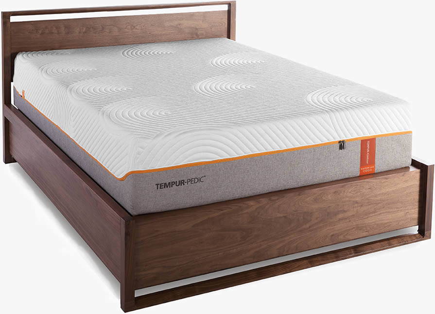 "Tempur-Pedic® 's Contour Rhapsody Luxe is 13.5 "" tall with two layers of Tempur® material."