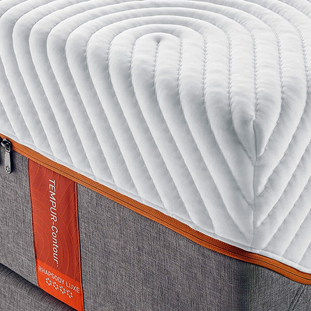 The Contour Rhapsody Luxe is a high quality memory foam mattress from Tempur-Pedic.  It has a medium firmness and is available in the Breeze edition for extra heat alleviation.