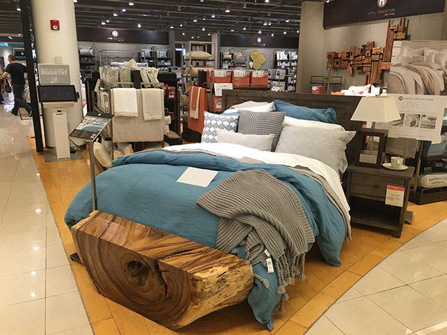 MACY'S HAS A LARGE SELECTION OF SHEETS, BLANKETS, PILLOWS PLUS DUVET COVERS TO ADD A STYLISH FINISH TO YOUR NEW MATTRESS.  MACY'S ALSO HAS TOPPERS, PADS AND COVERS