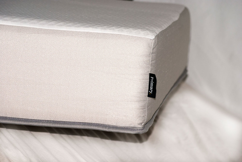 THE PRIMARY MATTRESS HAS A SILVER INFUSED COVER TO FIGHT AGAINST BACTERIA