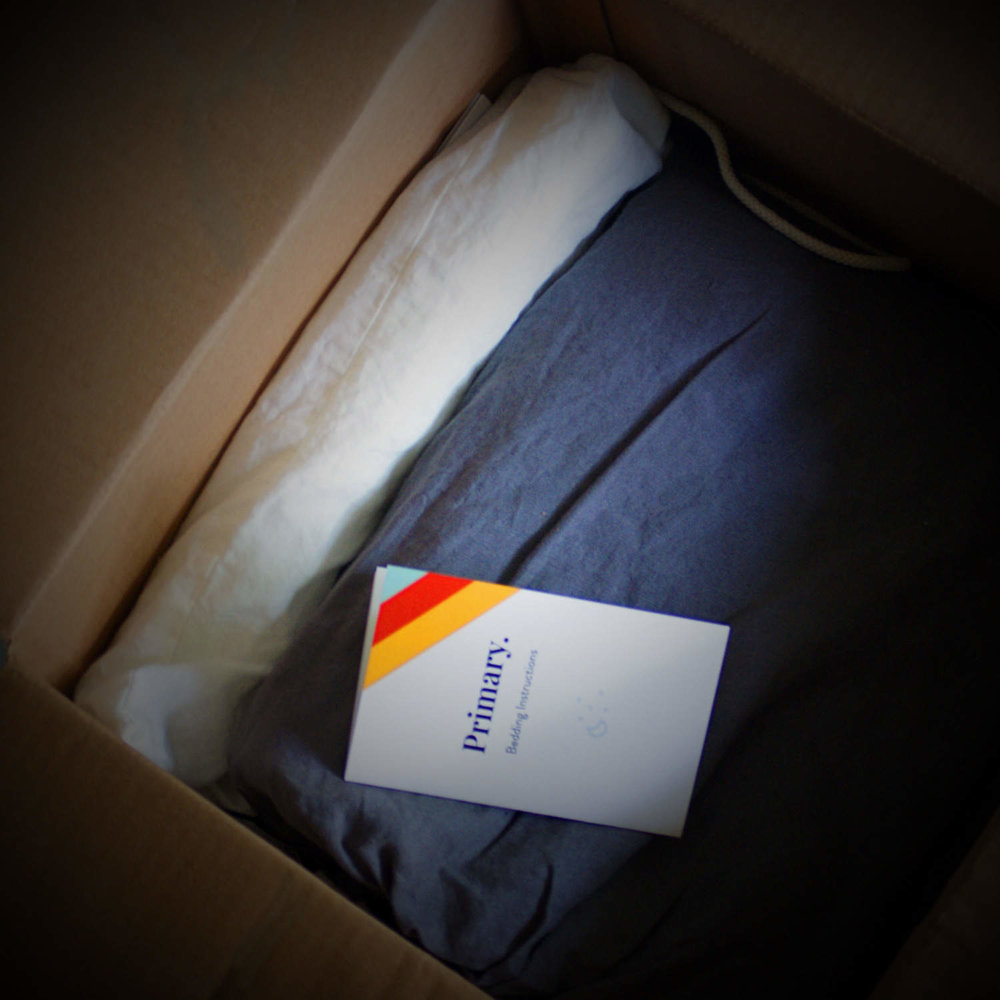 PRIMARY FRENCH LINEN BEDDING ARRIVES  NICELY PACKAGED IN STORAGE BAGS