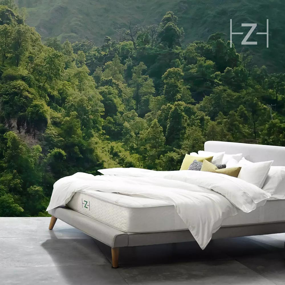 THE ZENHAVEN MATTRESS IS ECO-FRIENDLY MADE FROM 100% TALALAY LATEX AND INCORPORATES  CERTIFIED ORGANIC NEW ZEALAND WOOL AND ORGANIC COTTON