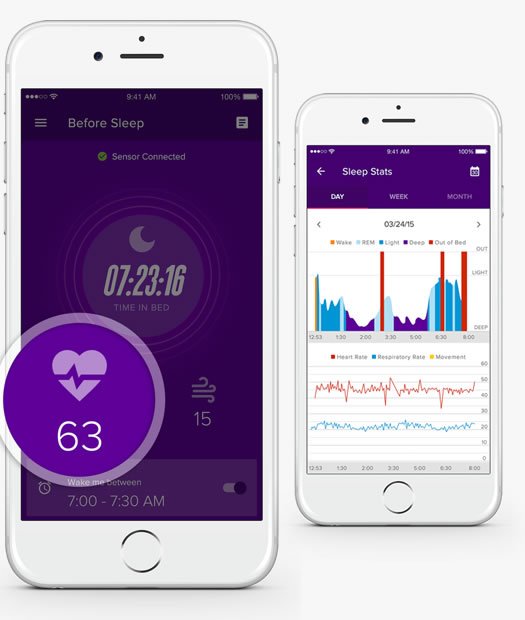 iFit Sleep HR's technology tracks more than just how long you slept. It digs deeper to track the quality of your rest by monitoring your heart and respiratory rate, along with your nightly patterns