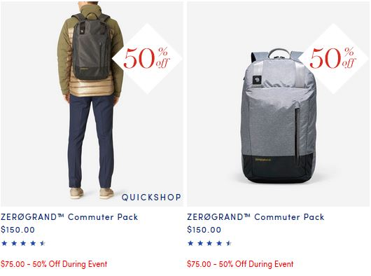 Awesome backpack at $75 perfect size for carrying a laptop, notebooks and every day essentials at Cole Haan thru Nov. 28 50% off