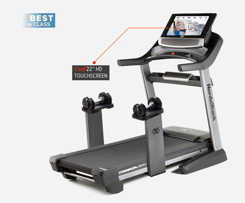 Nordictrack Commercial 2950 Treadmill with 22 HD inch Touch screen reviewed on maybeyesno.com