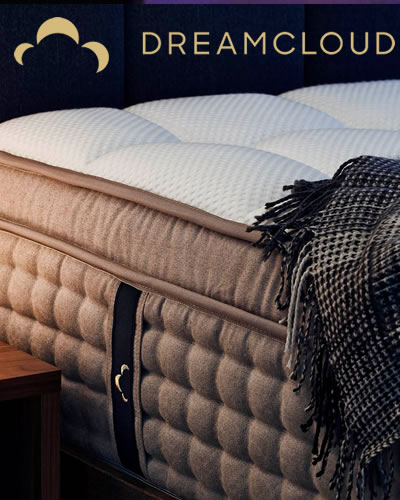 DreamCloud Luxury Hybrid  Mattress with Parachute Home Bedding