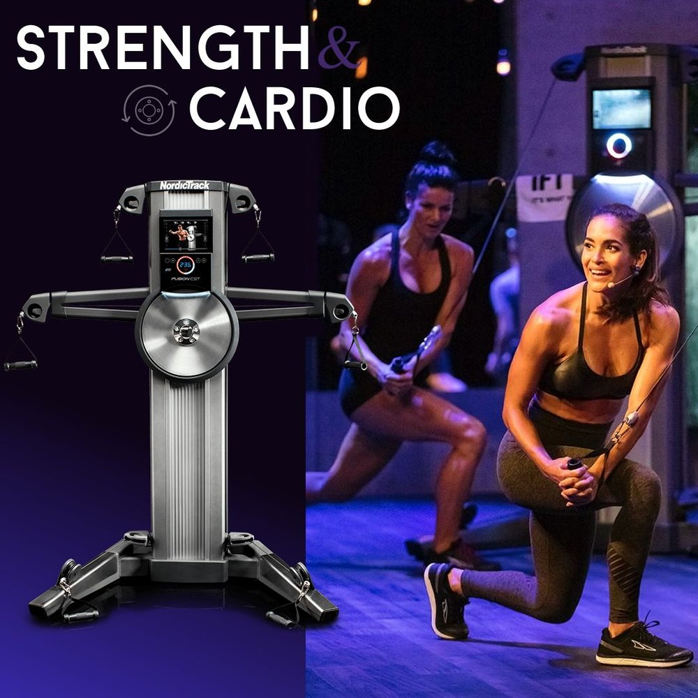 THE FUSION CST INCLUDES  1 YEAR OF iFIT COACH WITH FUSION STUDIO CLASSES TO FOLLOW . YOU GET THE POWER OF GROUP ENERGY WITH THE FEEL OF A STUDIO CLASS