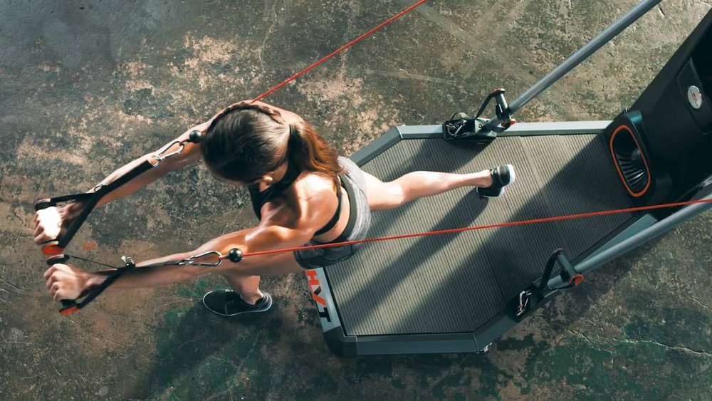 THE BOWFLEX HVT+ OFFERS A GOOD WORKOUT BUT THE PLATFORM IS LIMITING AND CAN BECOME A LITTLE AWKWARD WITH SOME EXERCISE MOVES AS ARE THE SIDE BARS