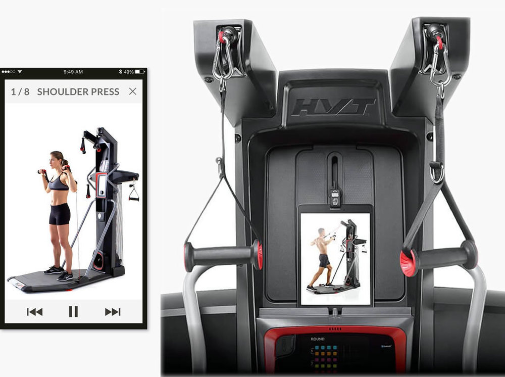 THE BOWFLEX HVT+  DOES COME WITH A FREE APP SO YOU CAN VIEW HOW TO COMPLETE MOVES & RECOMMENDED SEQUENCES, & TRACK YOUR PROGRESS. SAME AS WITH THE FUSION YOU CAN ADD UP TO 4 USERS ON THE APP