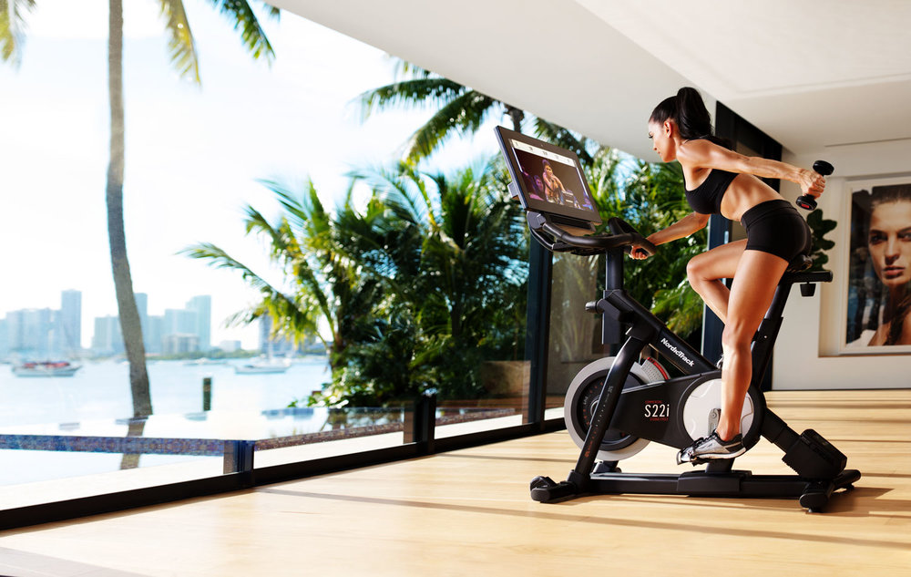 TAKE A SPIN CLASS AT HOME  ON THE NORDICTRACK COMMERCIAL S22i STUDIO CYCLE