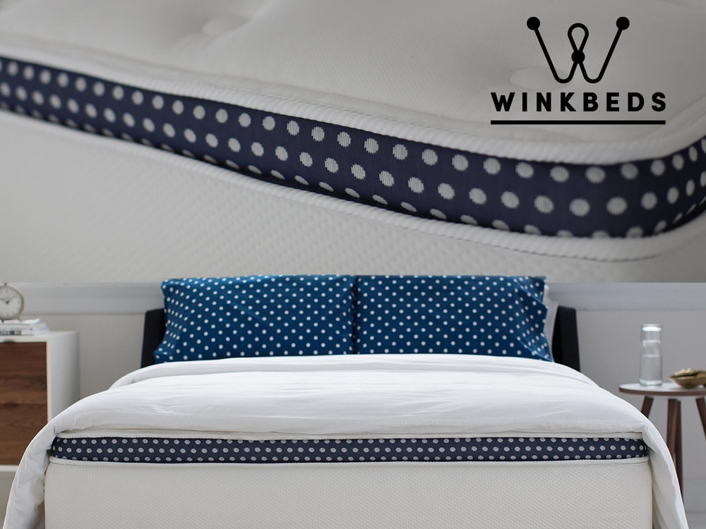 Winksbeds  offers a unique cooling base system for those who sleep hot as an option. White Glove Delivery with assembly in the room of your choice available. Save $100 with AMERICA100