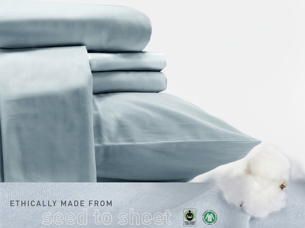 100% Organic sheets and bedding by Sol Organics. Soft. Smooth. Sustainable Organic Luxury
