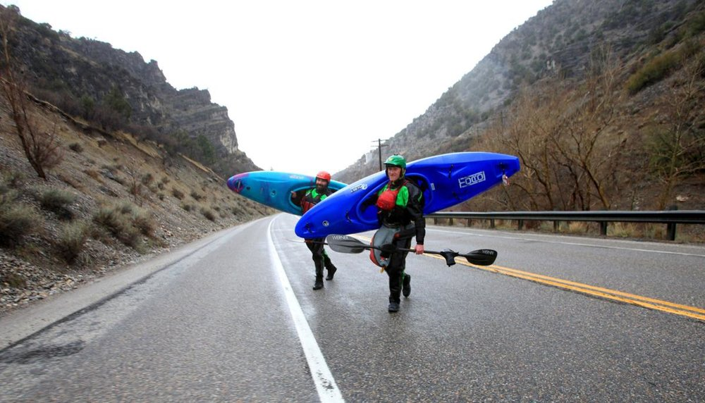 Carrying that Kayak