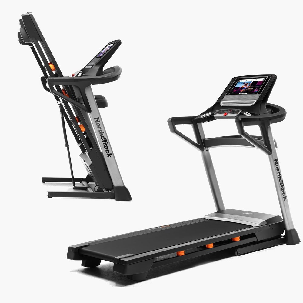 This treadmill is  a  Space Saver  with the ability to fold up it's running deck.   See all T Series Treadmills