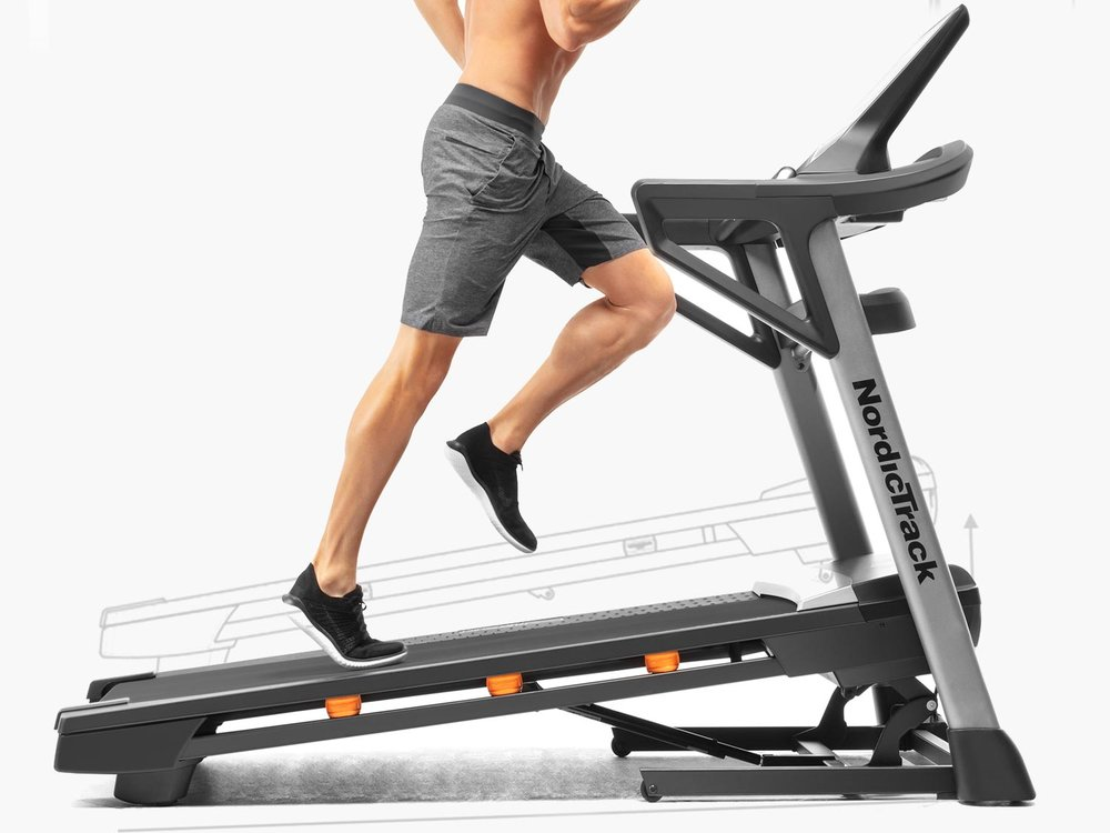 The T 8.5 S Treadmill   features up to a 12% incline for more challenging runs, walks or jogs & syncs well with  iFit Coach trainer  led runs and studio classes