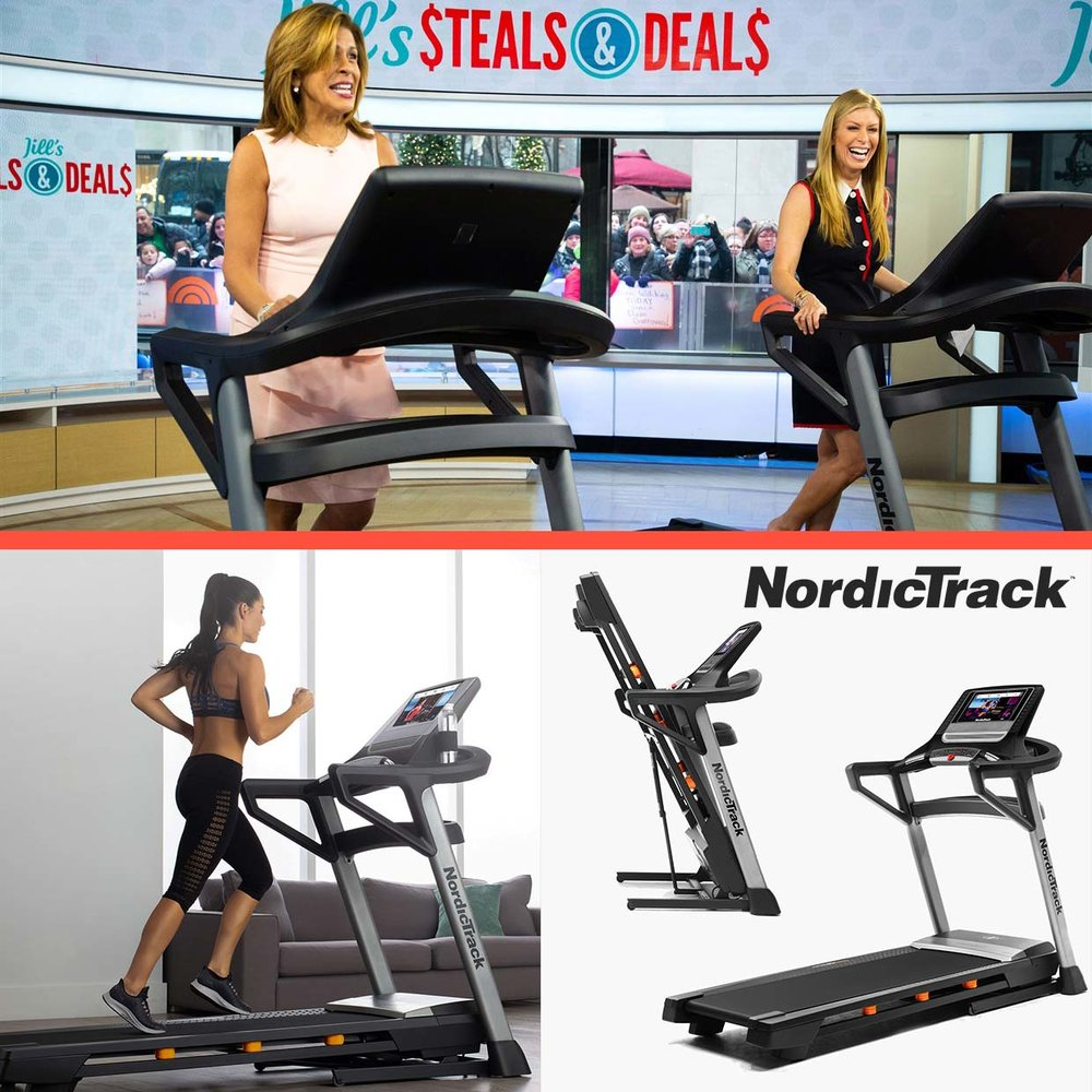Recently seen on the Today Show Hoda Kotb and Jill Martin kicking off the New Year with a  T 8.5 S Treadmill from Nordictrack  on Jill's Steals and Deals