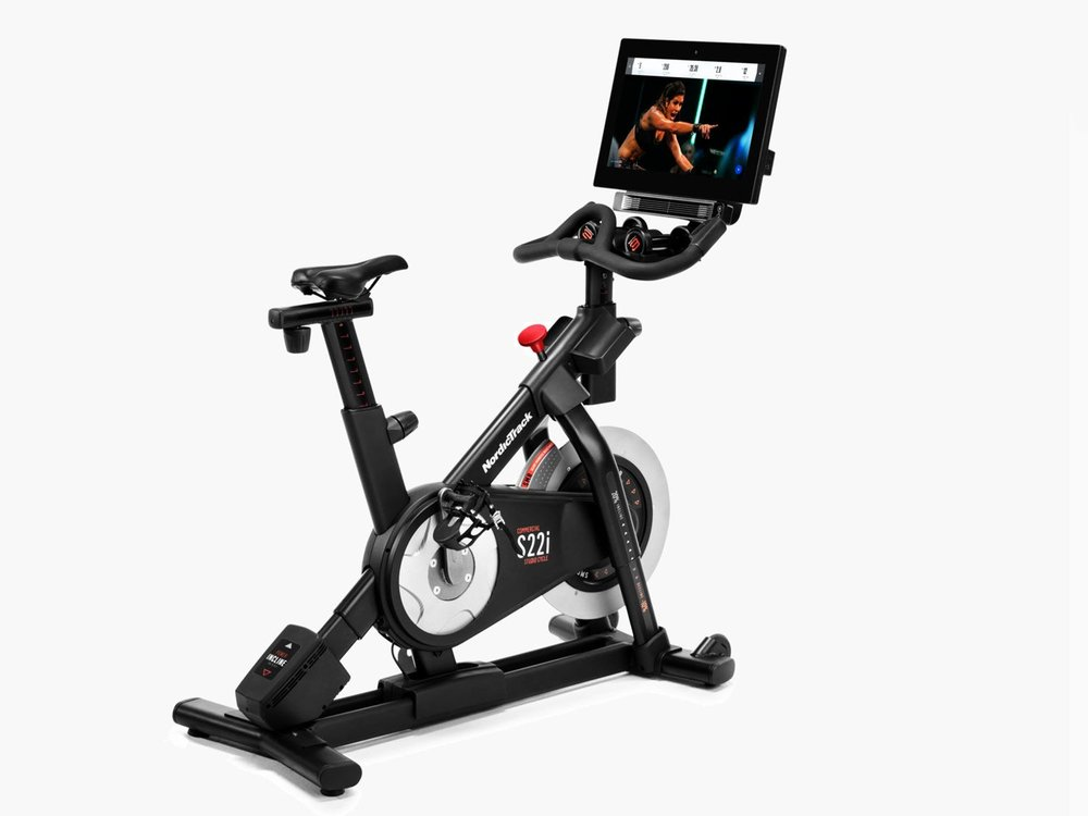 A REVIEW OF THE  COMMERCIAL S22i STUDIO BIKE  BY NORDICTRACK. THE S22i POWERED BY iFIT COACH FOR ON & OFF THE BIKE HOME STUDIO CLASSES WHICH TAKE YOU GO BEYOND THE RIDE