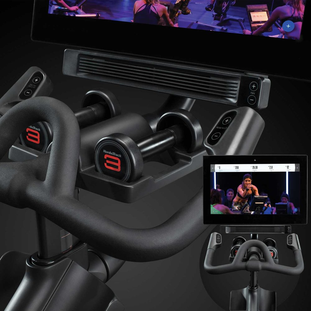 EASY TO ACCESS  ONE TOUCH CONTROLS  TO MAKE  QUICK ADJUSTMENTS  EASY FOR SPEED, INCLINE, DECLINE, RESISTANCE - AND INCLUDE FAN SPEED PLUS VOLUME