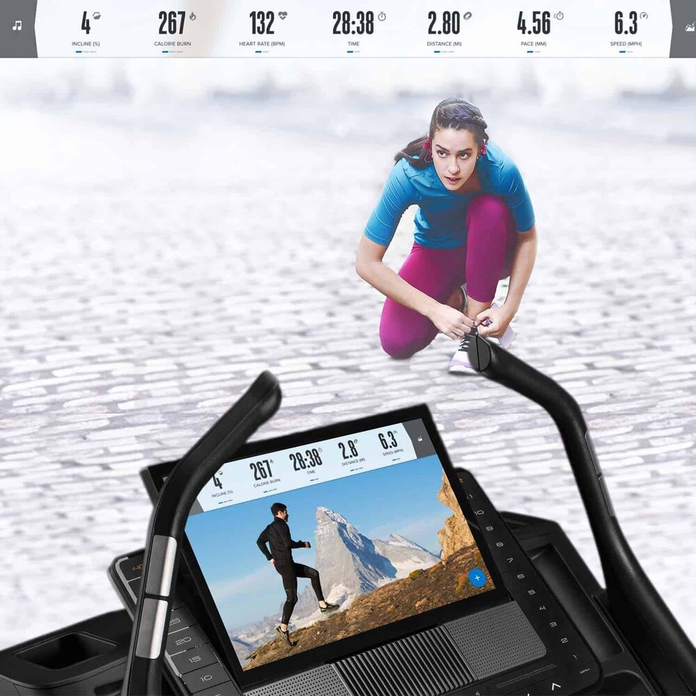 Nordictrack X22i incline trainer with iFit in Action — MAYBE