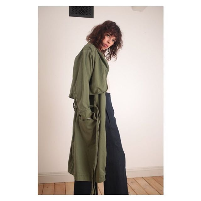 The ICONS military trench. Timeless and so cool.